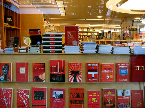 bookstore in red